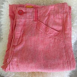{Anthropologie} Pilcro Coral Wide Leg Linen Pants